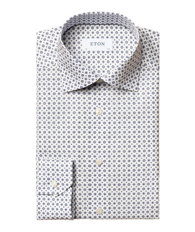 Contemporary-Fit Twill Cotton Dress Shirt picture 1