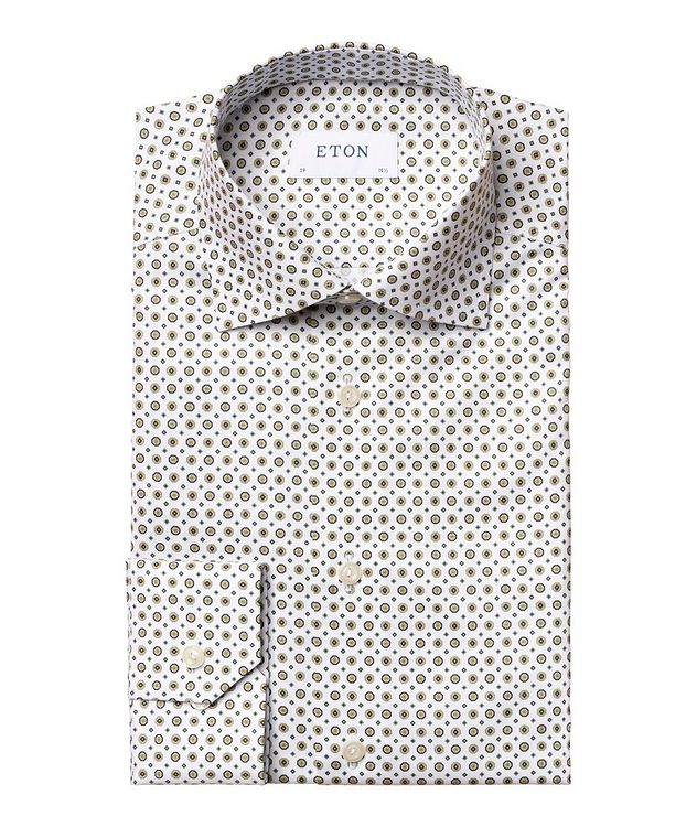 Chemise habillée en twill de coton de coupe contemporaine picture 1