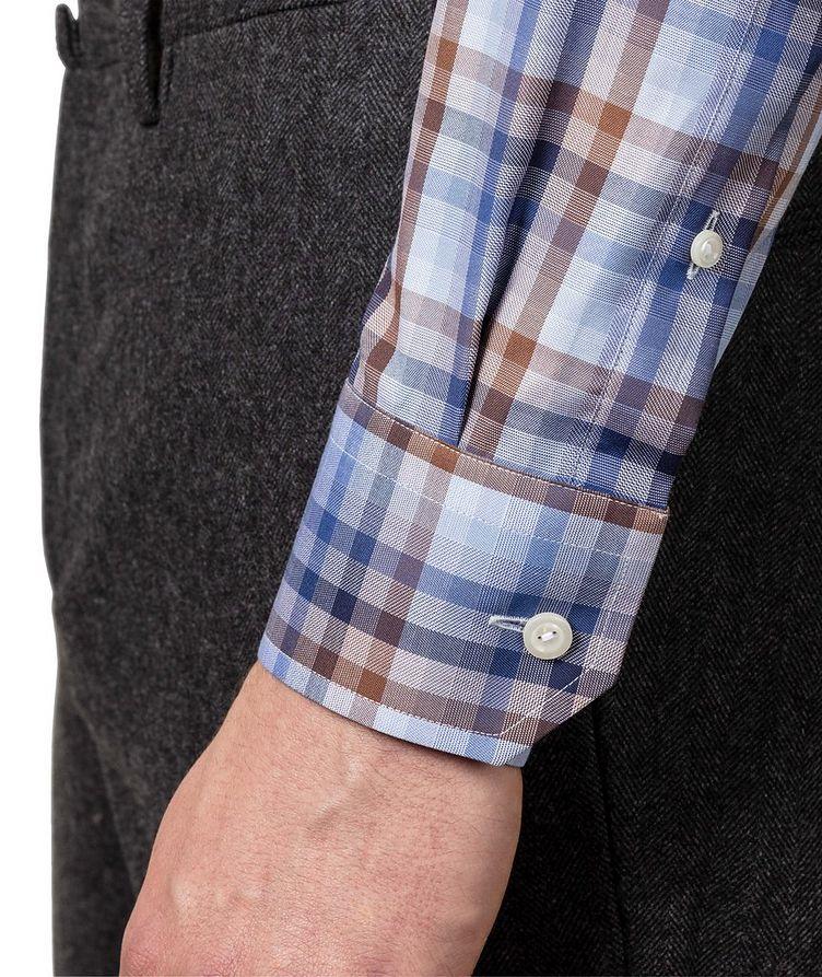 Slim Fit Checked Dress Shirt image 2
