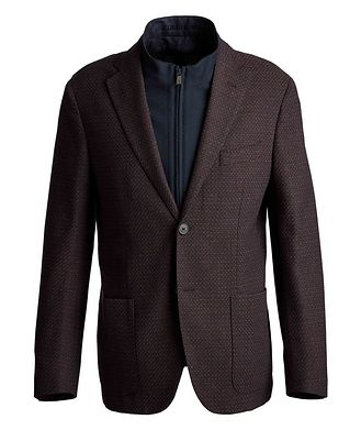 Corneliani Textured Wool-Blend Sports Jacket