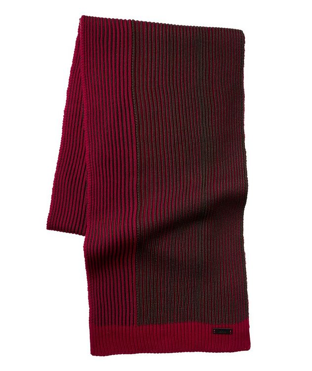 Marcon Ribbed Wool Scarf picture 1