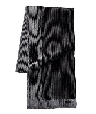 BOSS Marcon Ribbed Wool Scarf