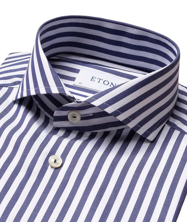 Slim-Fit Striped Dress Shirt picture 2