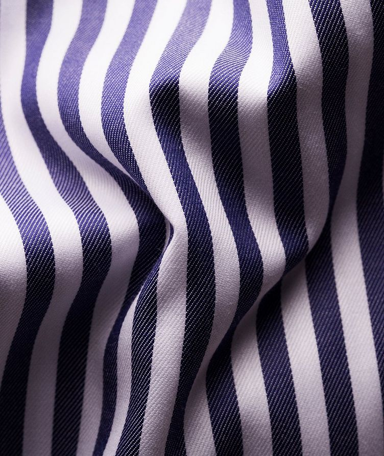Slim-Fit Striped Dress Shirt image 2