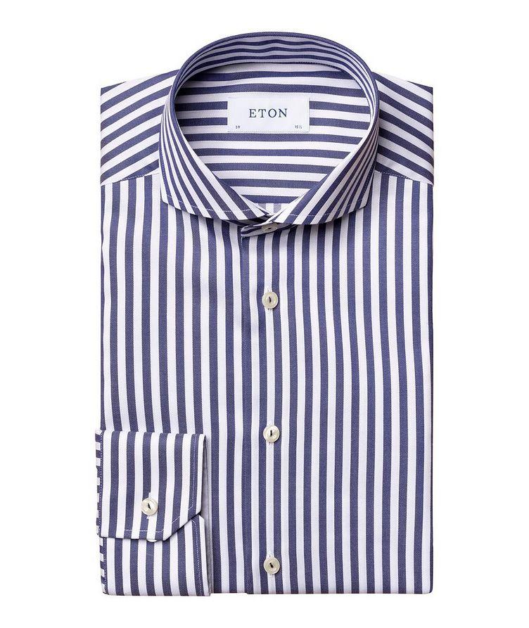 Slim-Fit Striped Dress Shirt image 0