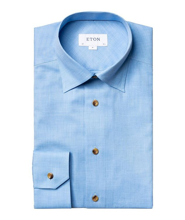 Slim-Fit Open Weave Dress Shirt picture 1