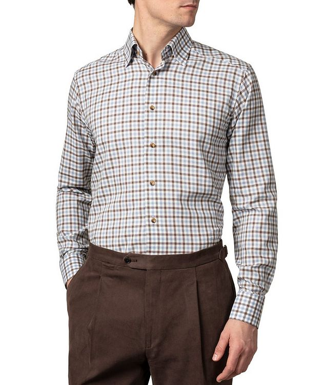 Slim-Fit Gingham Dress Shirt picture 2