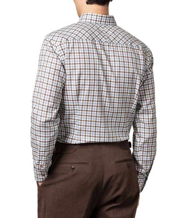 Slim-Fit Gingham Dress Shirt picture 3
