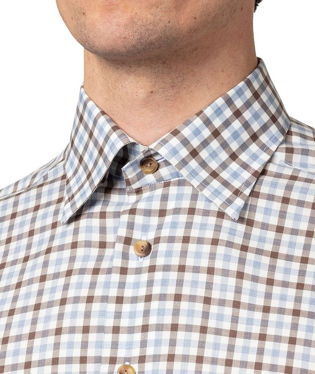 Slim-Fit Gingham Dress Shirt picture 4