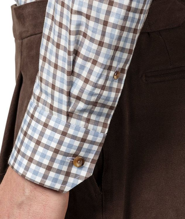 Slim-Fit Gingham Dress Shirt picture 5