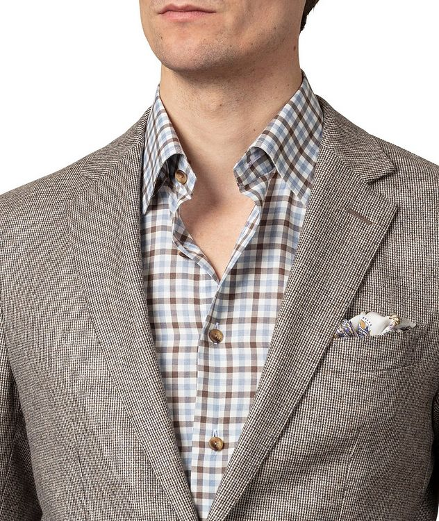 Slim-Fit Gingham Dress Shirt picture 6