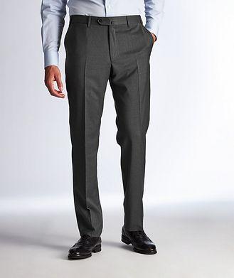 Corneliani Pantalon habillé en laine extensible de coupe contemporaine