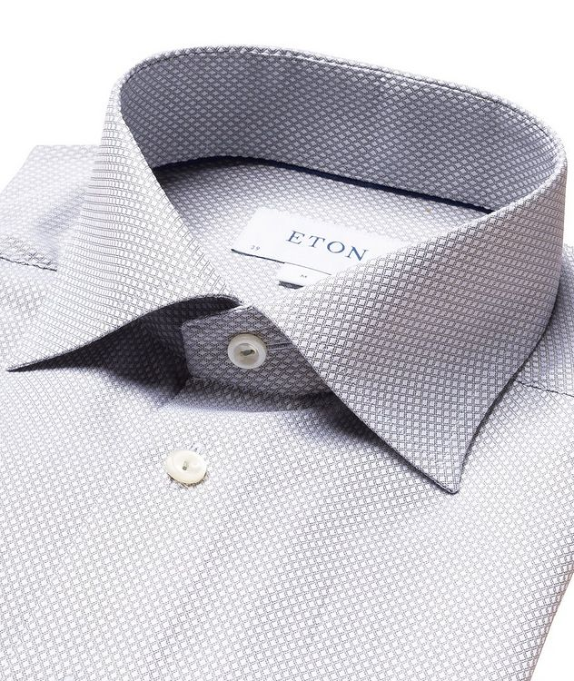 Slim-Fit Dobby Cotton Dress Shirt picture 2