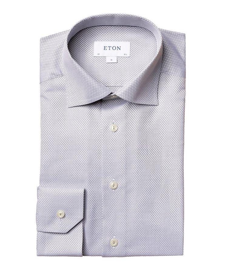 Slim-Fit Dobby Cotton Dress Shirt image 0