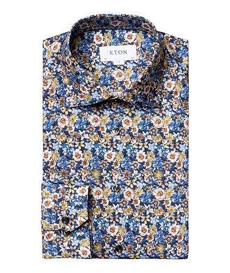 Eton Slim Fit Botanical Dress Shirt