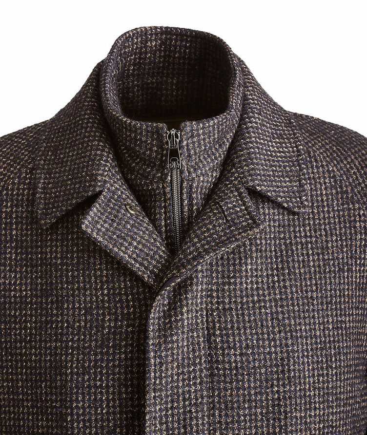 Water-Resistant Checkered Coat image 2