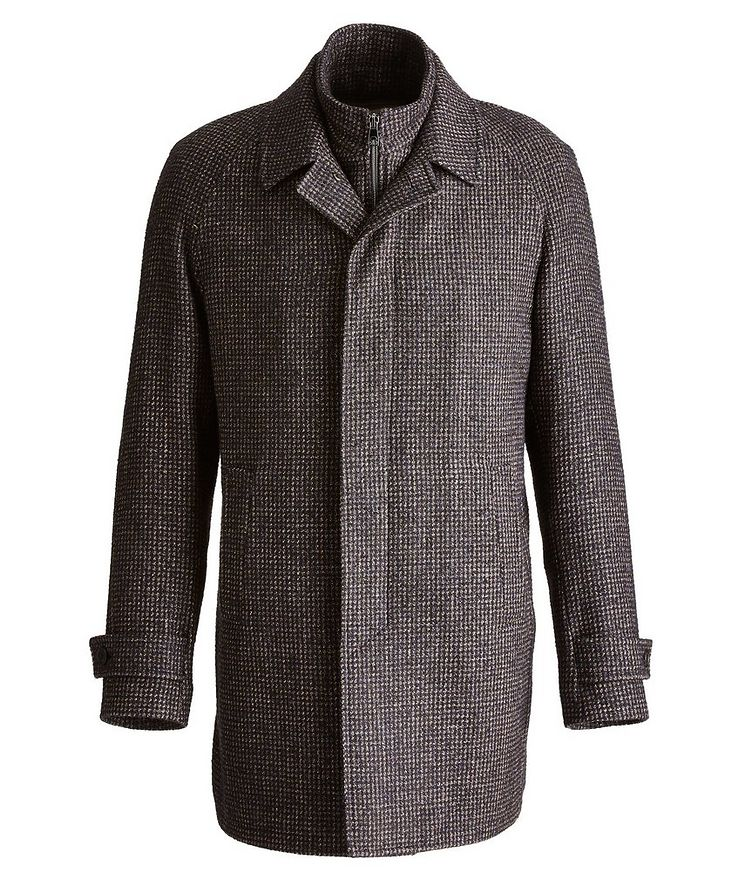 Water-Resistant Checkered Coat image 0
