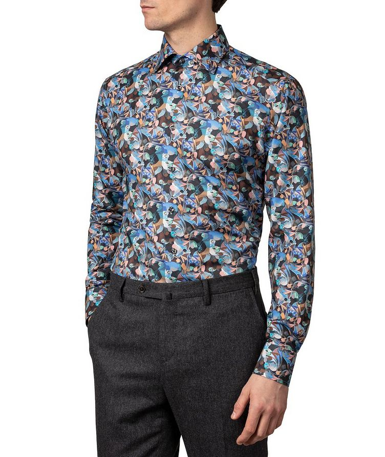 Slim-Fit Printed Flannel Dress Shirt image 1