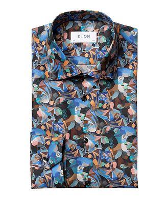 Eton Slim-Fit Printed Flannel Dress Shirt