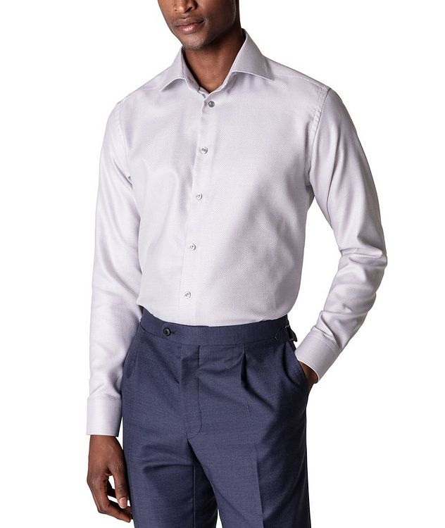 Slim Fit Textured Twill Shirt picture 2