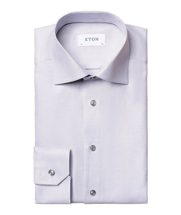 Slim Fit Textured Twill Shirt picture 1