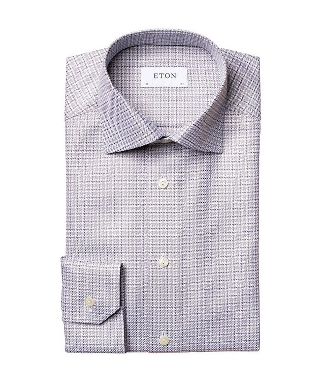 Slim Fit Houndstooth Shirt picture 1
