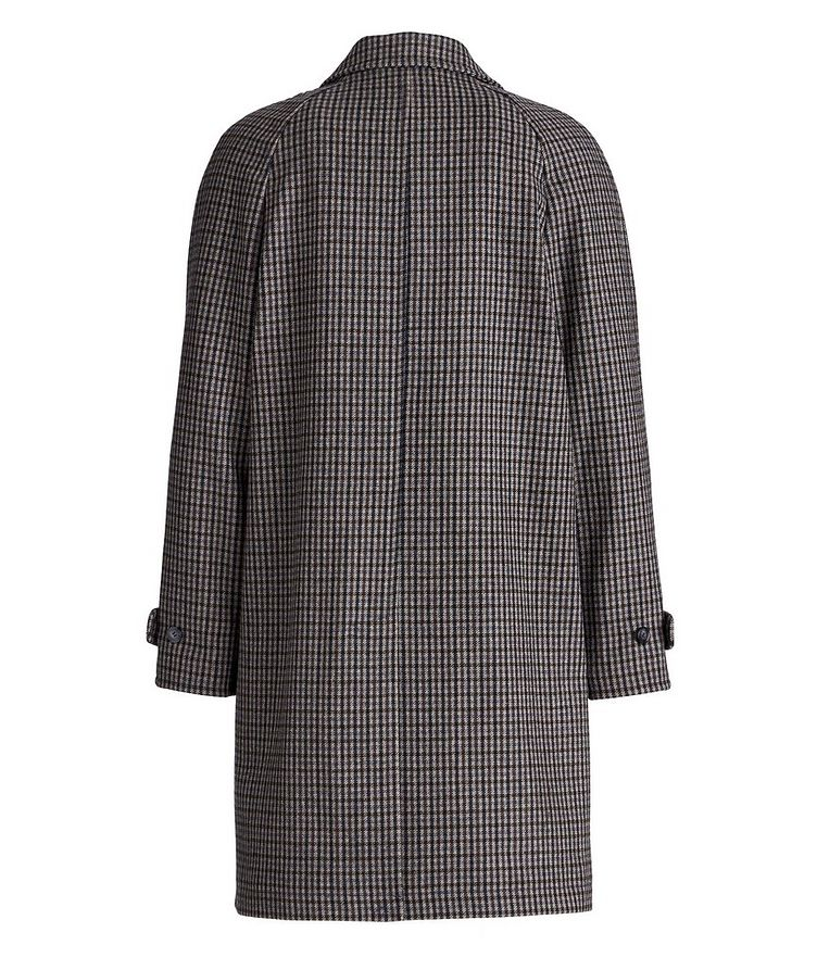Checkered Wool-Blend Coat image 1