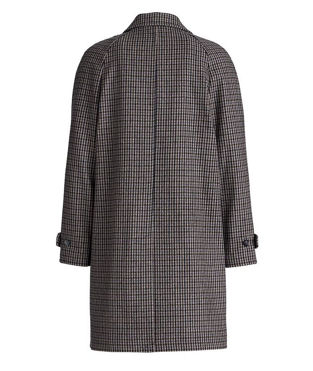 Checkered Wool-Blend Coat picture 2
