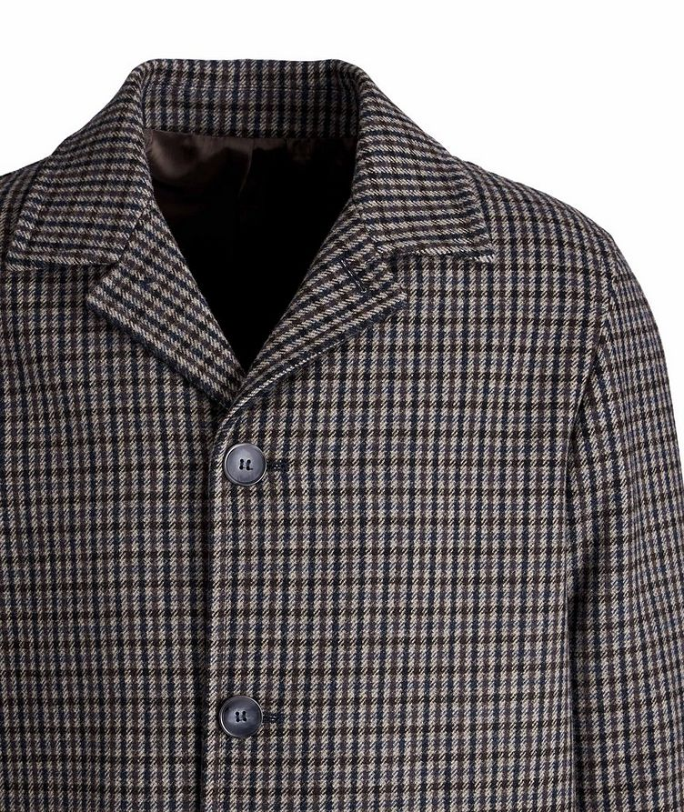 Checkered Wool-Blend Coat image 2