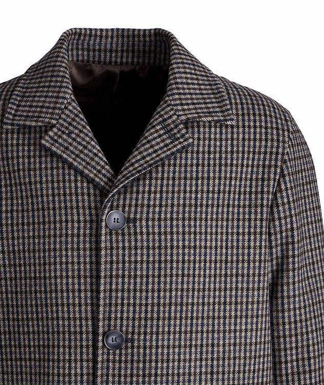 Checkered Wool-Blend Coat picture 3