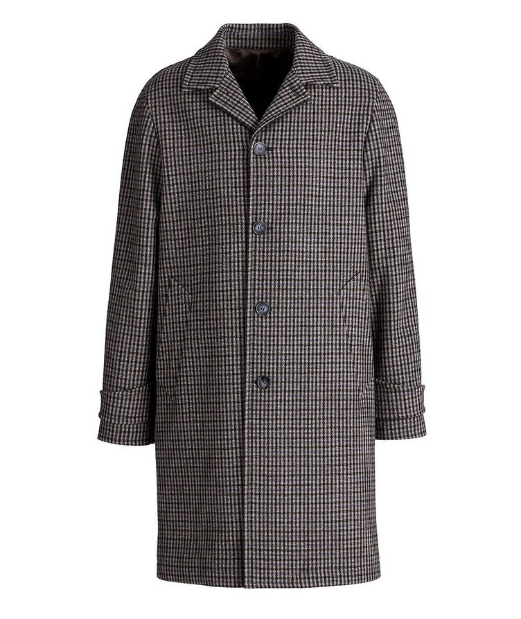 Checkered Wool-Blend Coat image 0