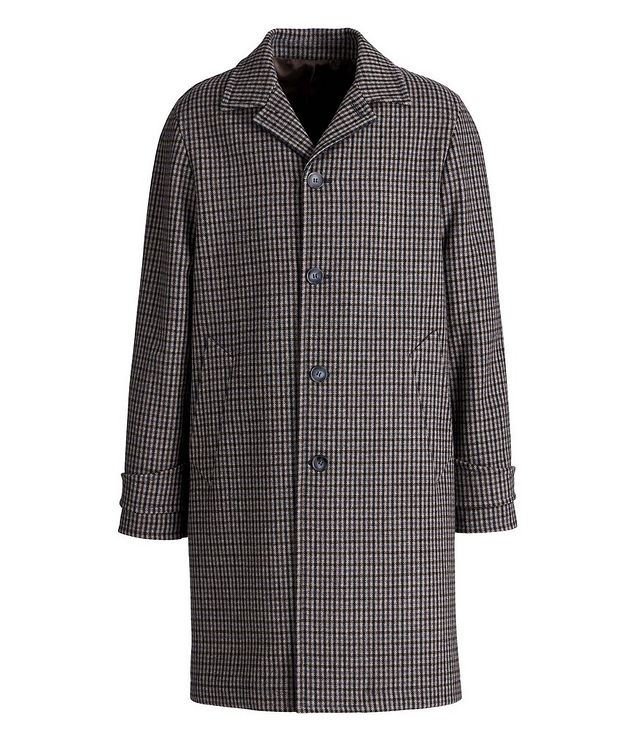Checkered Wool-Blend Coat picture 1