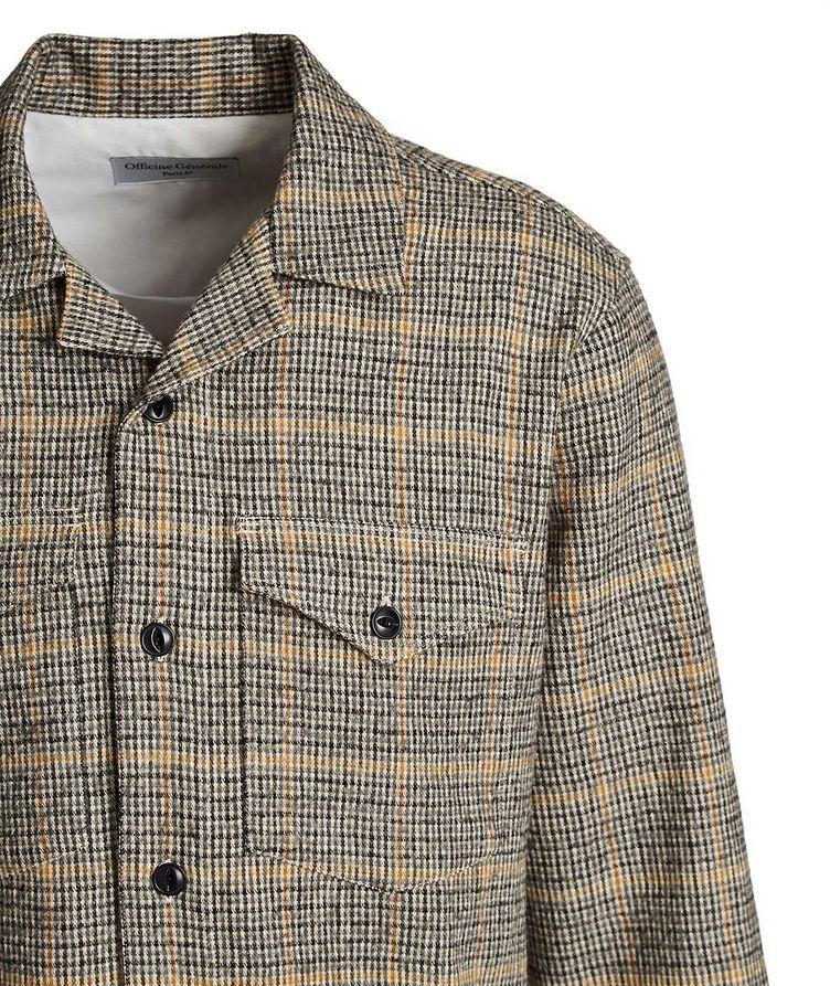 Chemise Jonas en coton et laine à motif quadrillé image 1