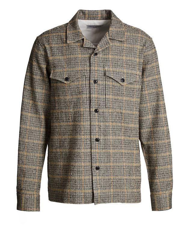 Chemise Jonas en coton et laine à motif quadrillé picture 1