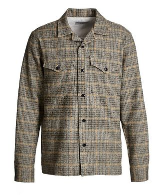 Officine Generale Jonas Checkered Japanese Cotton-Wool Shirt