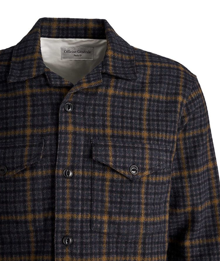 Jonas Checked Wool-Blend Shirt image 2