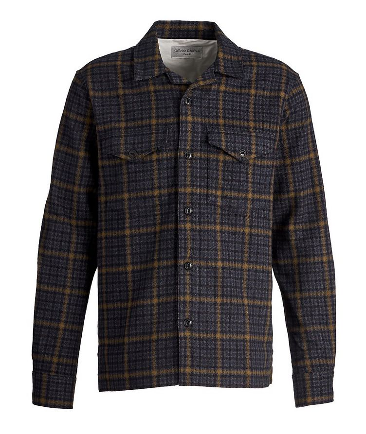 Jonas Checked Wool-Blend Shirt image 0