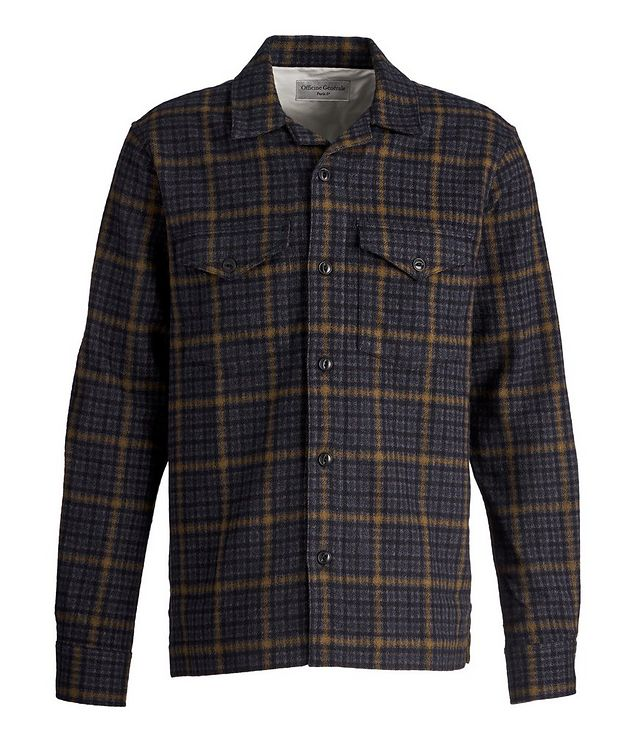 Jonas Checked Wool-Blend Shirt picture 1