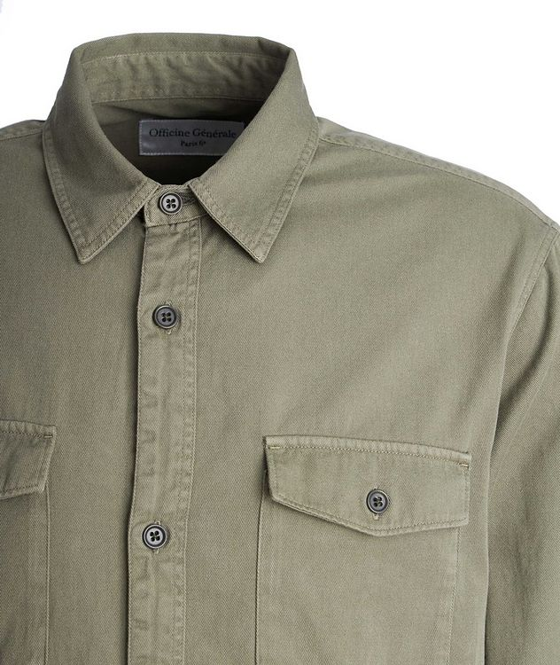 Amar Cotton-Twill Utility Shirt picture 3