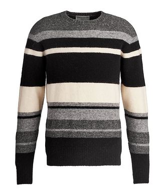Officine Generale Striped Stretch Alpaca-Blend Sweater