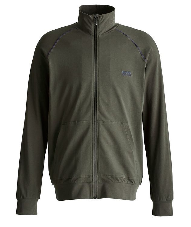 Mix and Match Zip-Up Stretch-Cotton Jacket picture 1
