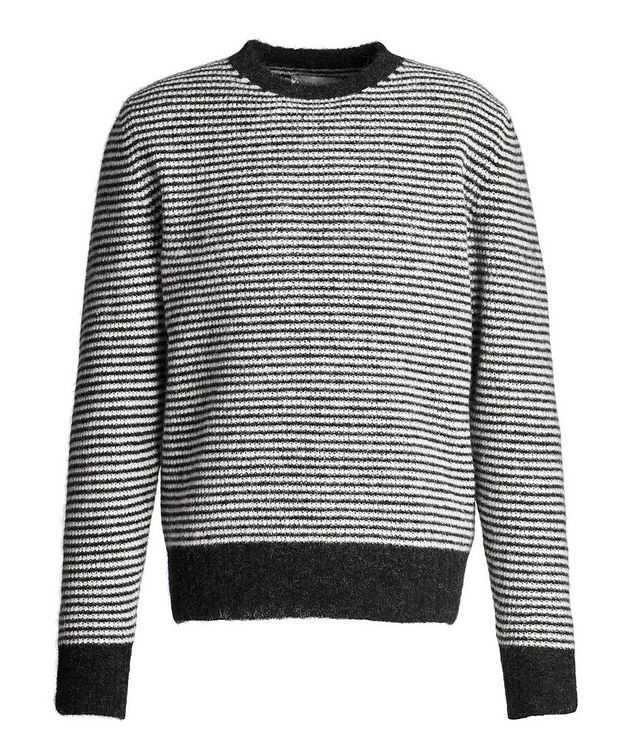 Fred Striped Angora-Wool Sweater picture 1