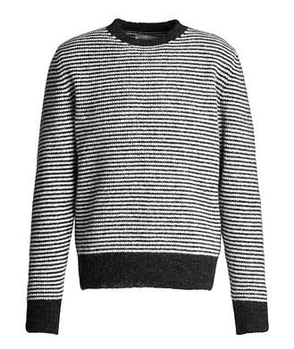 Officine Generale Fred Striped Angora-Wool Sweater