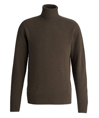 Officine Generale Seamless Wool-Cashmere Turtleneck