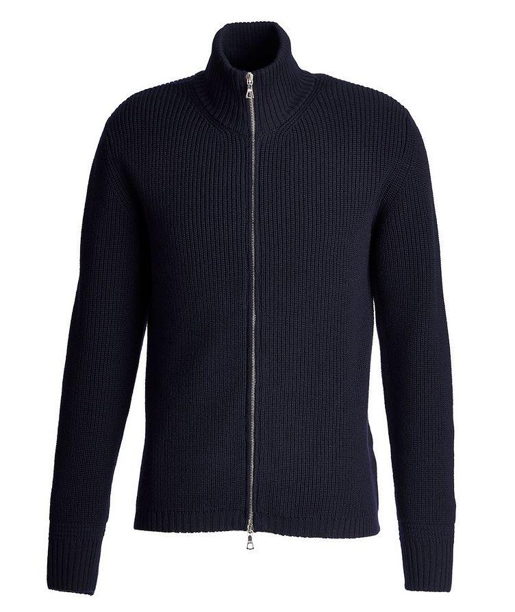 Fisherman's Knit Zip-Up Merino Sweater image 0