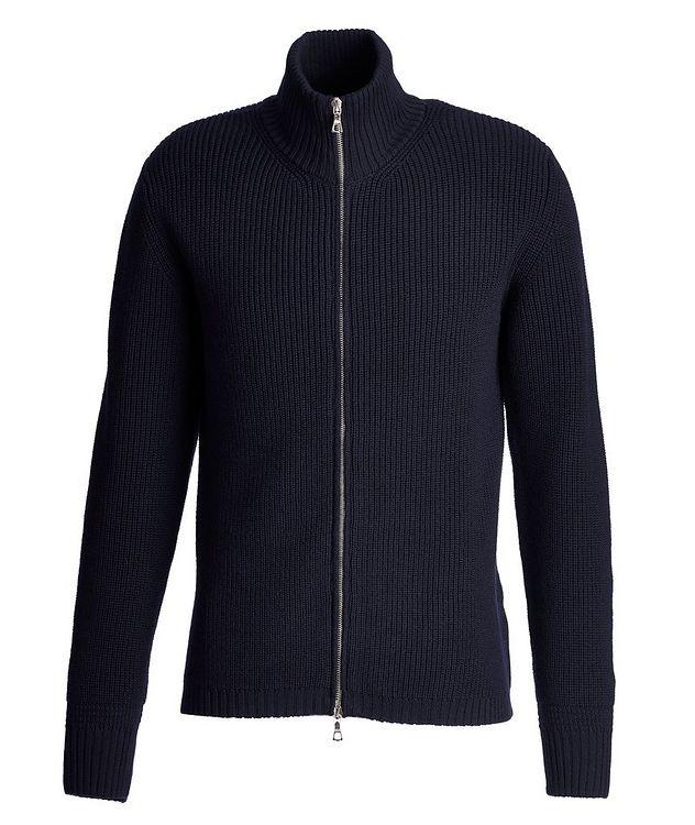Fisherman's Knit Zip-Up Merino Sweater picture 1