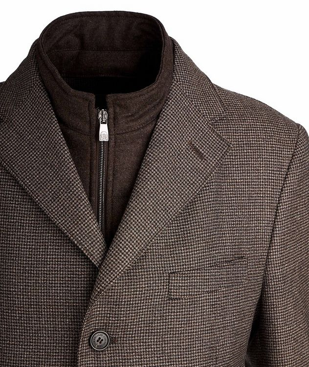 Houndstooth Water-Resistant Coat picture 3