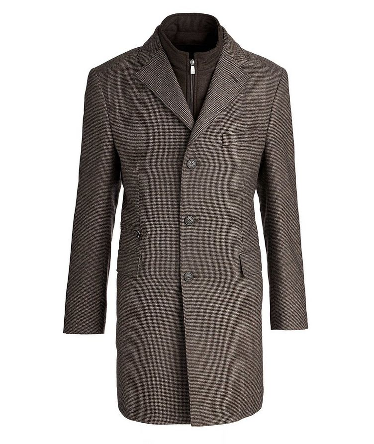Houndstooth Water-Resistant Coat image 0