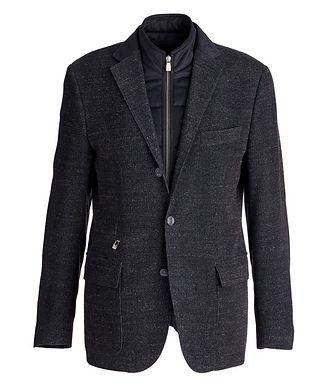 Corneliani Manteau en laine et coton