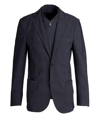 Corneliani Micro-Houndstooth Sports Jacket